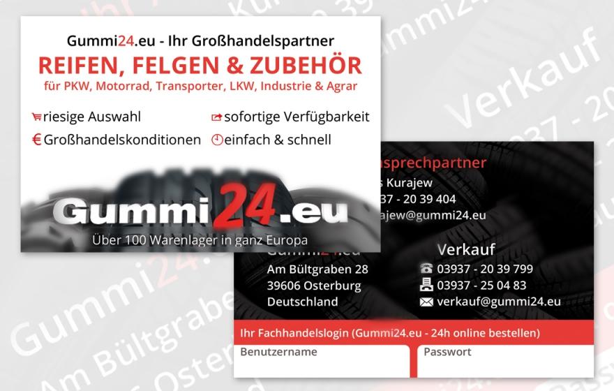Print Ci Entwickeln Gummi24 Visitenkarten Osterburg