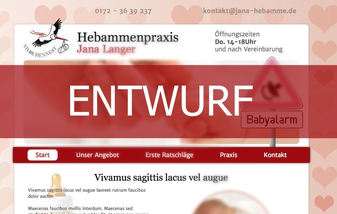 Webseite Erstellen Hebammenpraxis Jana Langer Homepage